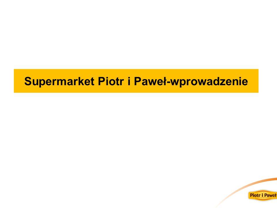 Supermarket Piotr i Paweł-wprowadzenie