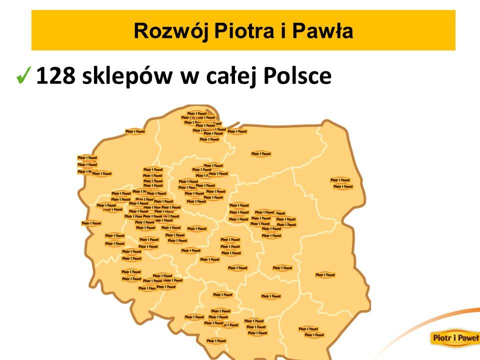 Rozwój Piotra i Pawła 128 sklepów w całej Polsce