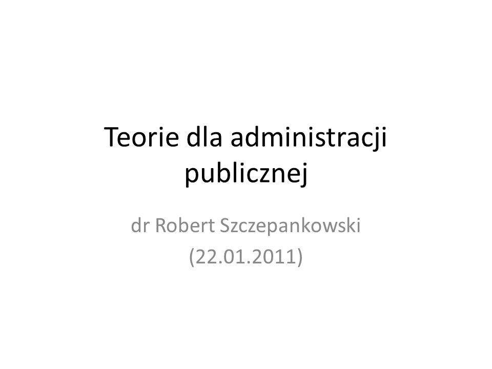 Teorie dla administracji publicznej