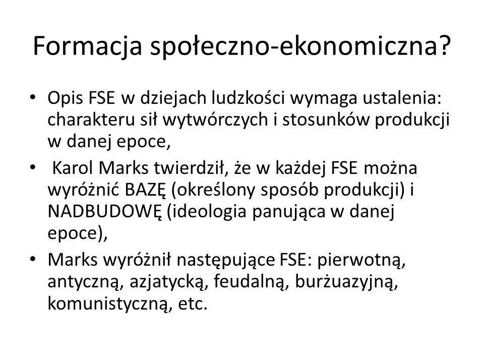 Formacja społeczno-ekonomiczna