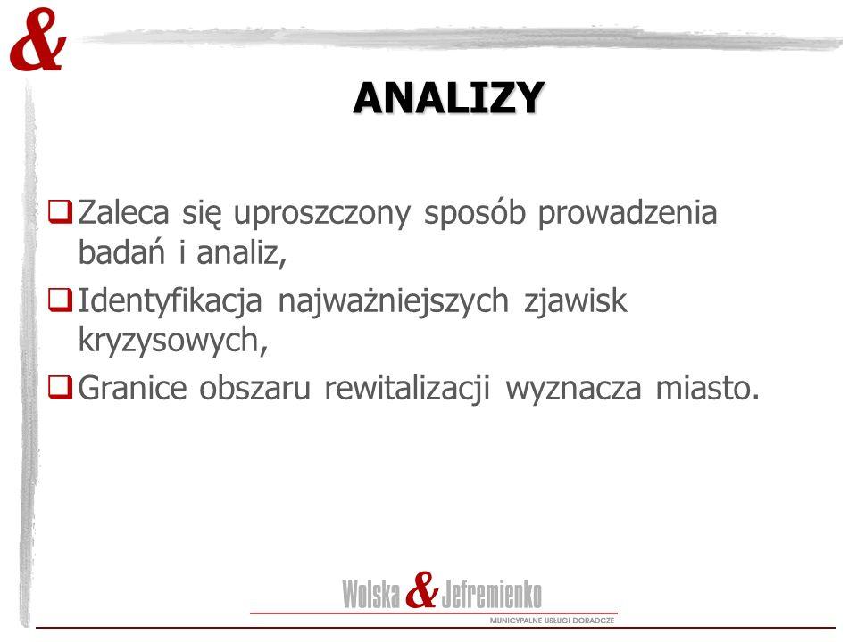 ANALIZY Zaleca się uproszczony sposób prowadzenia badań i analiz,