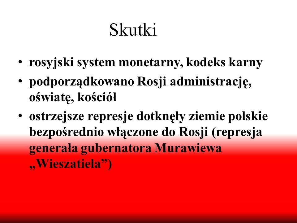 Skutki rosyjski system monetarny, kodeks karny