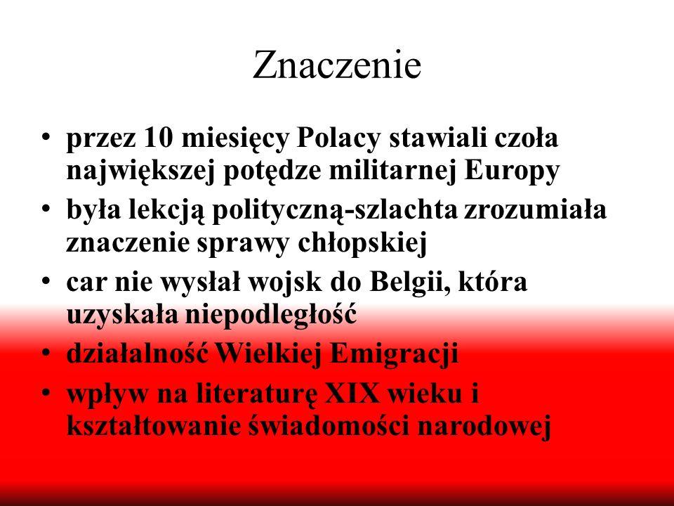 Znaczenie przez 10 miesięcy Polacy stawiali czoła największej potędze militarnej Europy.