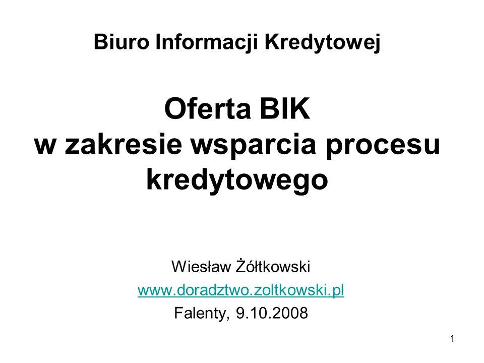 Wiesław Żółtkowski www.doradztwo.zoltkowski.pl Falenty, 9.10.2008