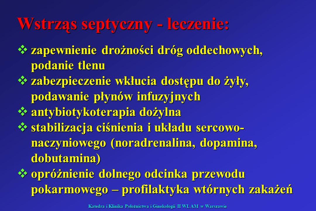 Wstrząs septyczny - leczenie: