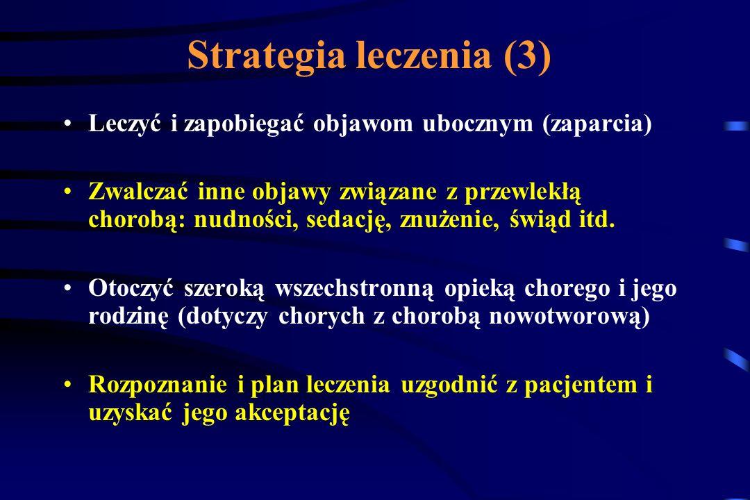 Strategia leczenia (3) Leczyć i zapobiegać objawom ubocznym (zaparcia)