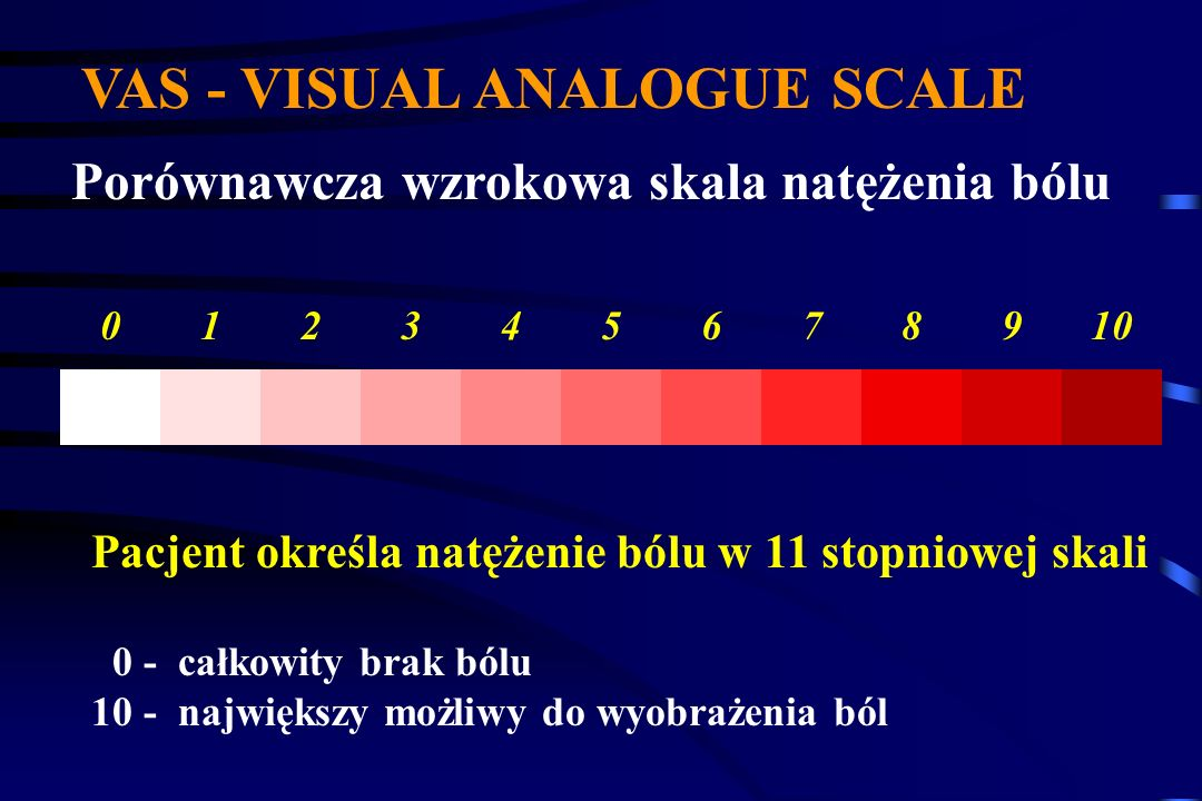 VAS - VISUAL ANALOGUE SCALE