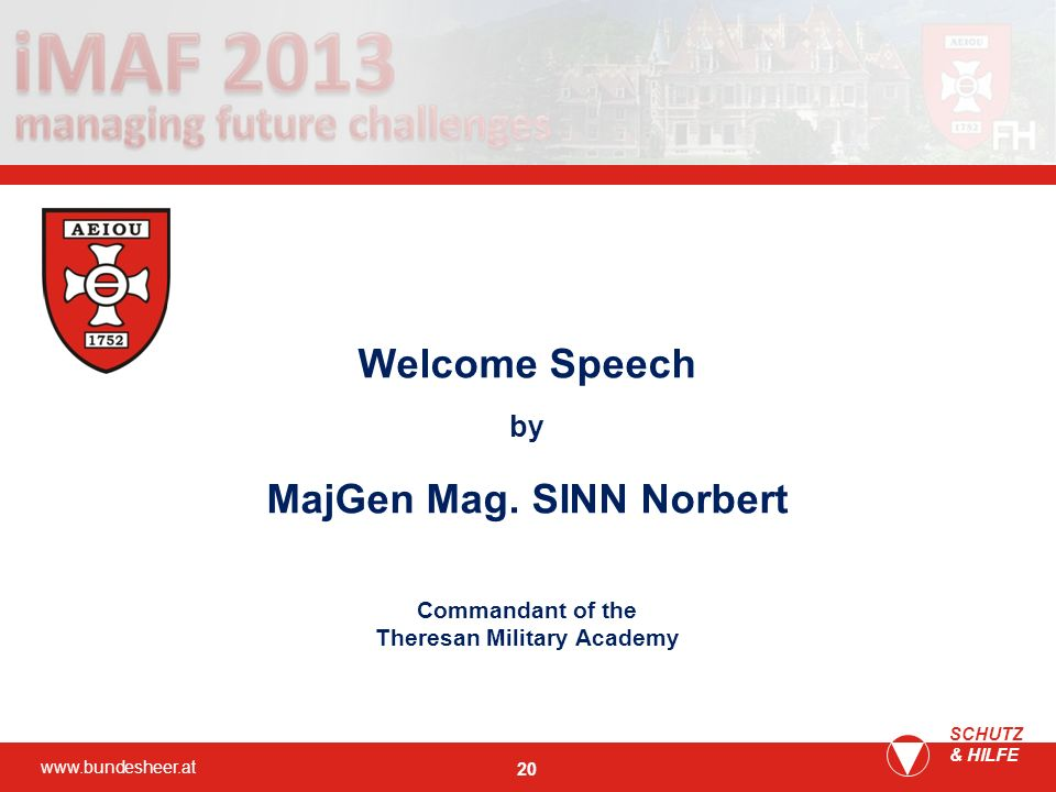 MajGen Mag. SINN Norbert Theresan Military Academy