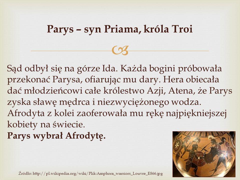 Parys – syn Priama, króla Troi