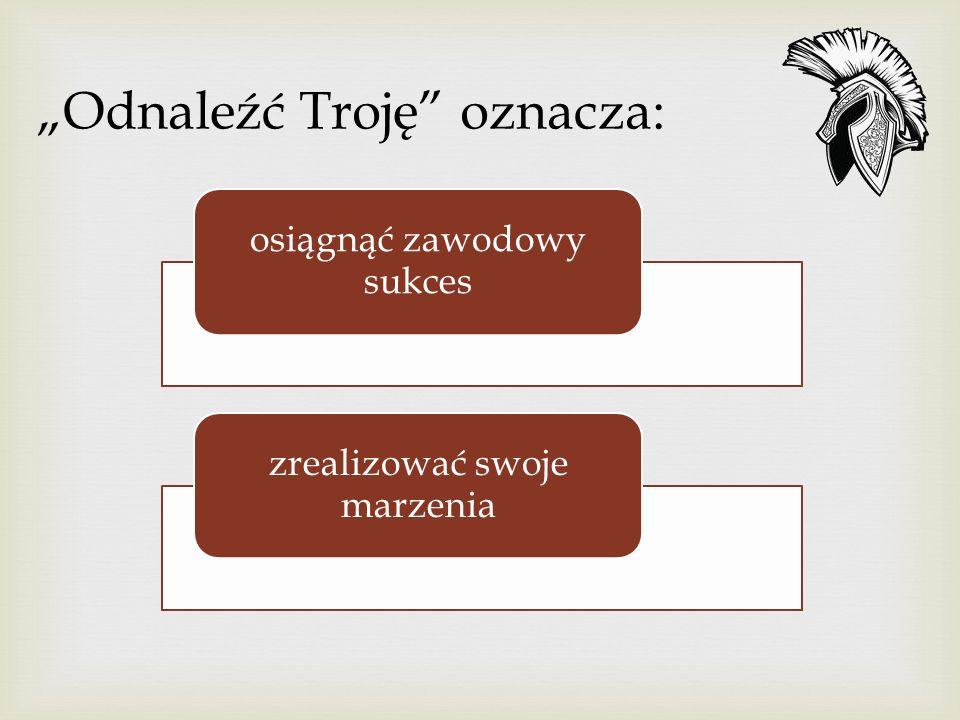 """""""Odnaleźć Troję oznacza:"""