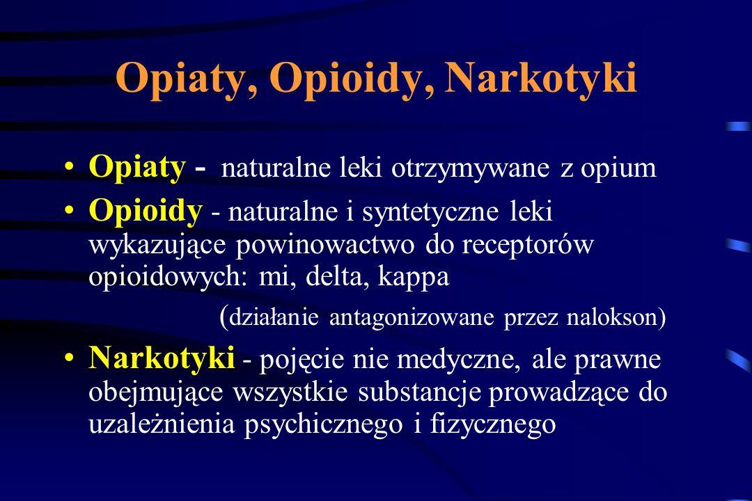 Opiaty, Opioidy, Narkotyki