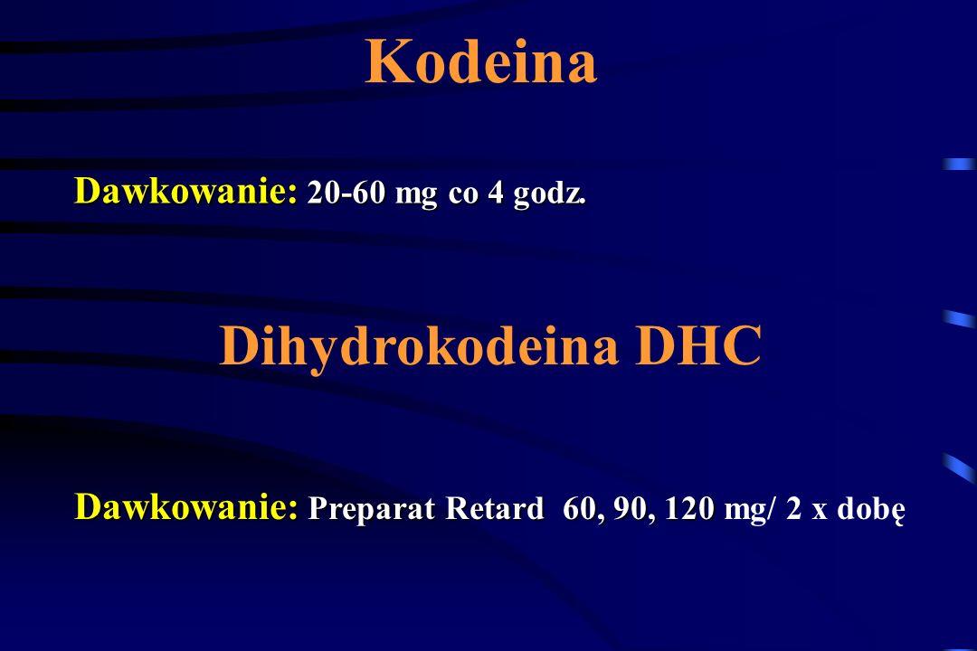 Kodeina Dihydrokodeina DHC Dawkowanie: 20-60 mg co 4 godz.