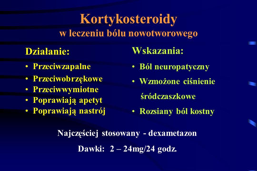 Kortykosteroidy w leczeniu bólu nowotworowego