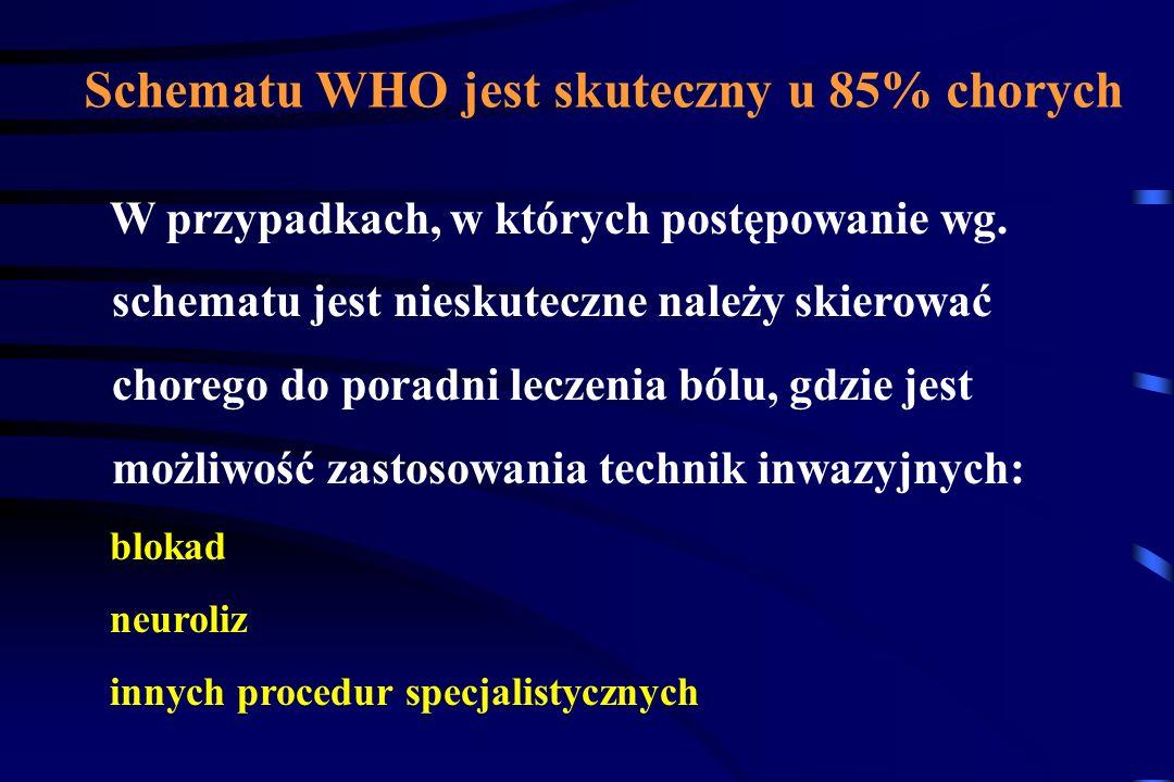 Schematu WHO jest skuteczny u 85% chorych