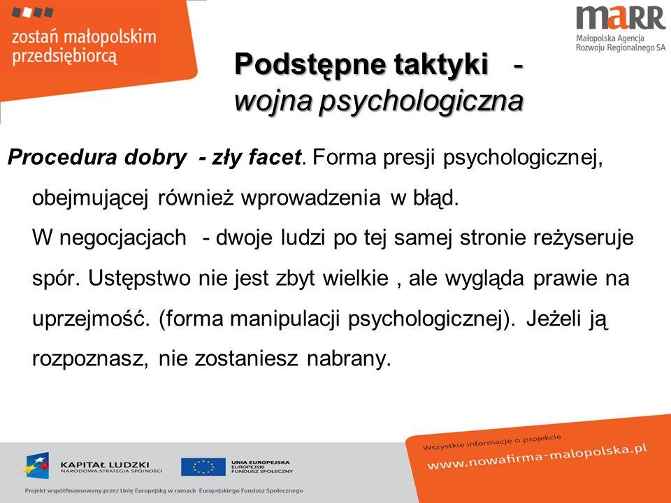 Podstępne taktyki - wojna psychologiczna