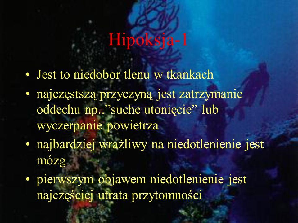 Hipoksja-1 Jest to niedobor tlenu w tkankach
