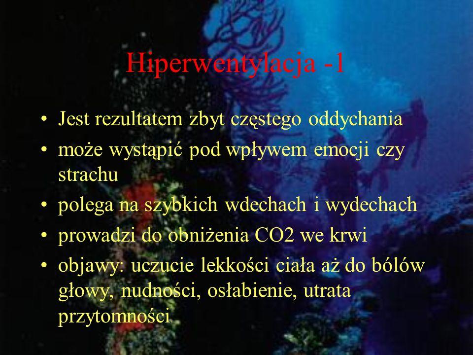 Hiperwentylacja -1 Jest rezultatem zbyt częstego oddychania