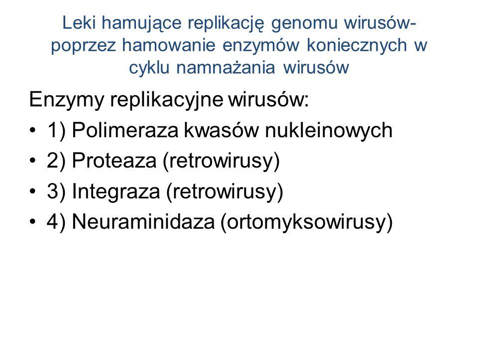 Enzymy replikacyjne wirusów: 1) Polimeraza kwasów nukleinowych