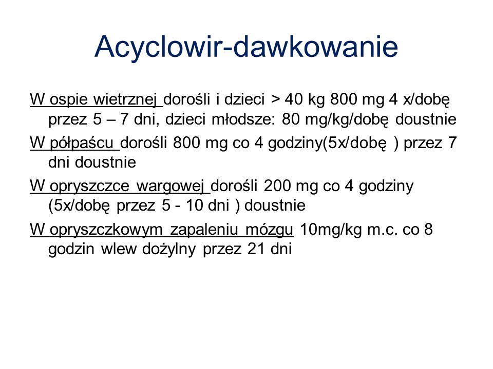 Acyclowir-dawkowanie