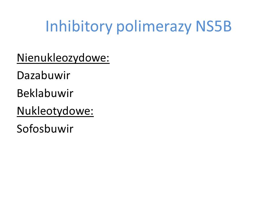 Inhibitory polimerazy NS5B