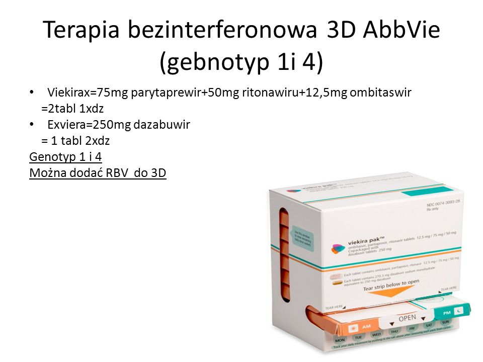 Terapia bezinterferonowa 3D AbbVie (gebnotyp 1i 4)