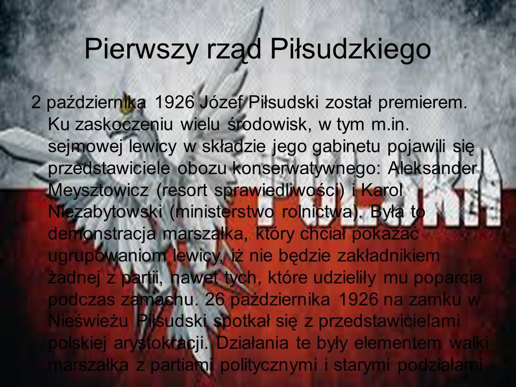 Pierwszy rząd Piłsudzkiego