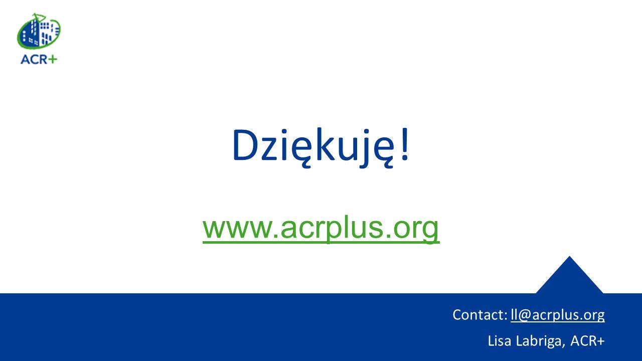 Dziękuję! www.acrplus.org Contact: ll@acrplus.org Lisa Labriga, ACR+