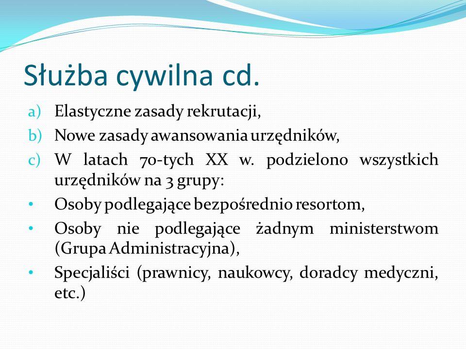 Służba cywilna cd. Elastyczne zasady rekrutacji,