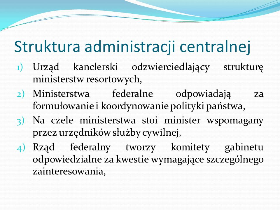 Struktura administracji centralnej