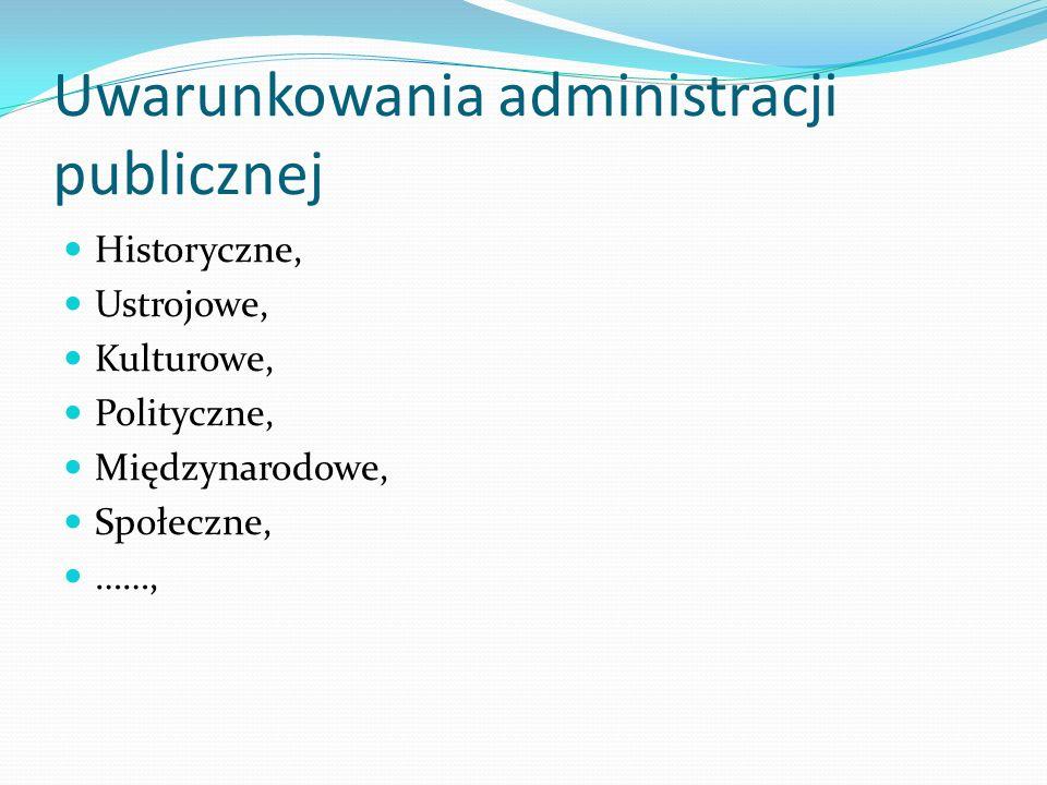 Uwarunkowania administracji publicznej