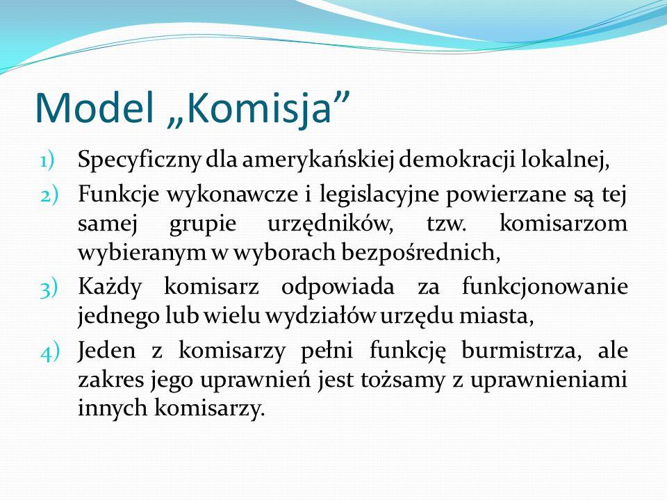 """Model """"Komisja Specyficzny dla amerykańskiej demokracji lokalnej,"""