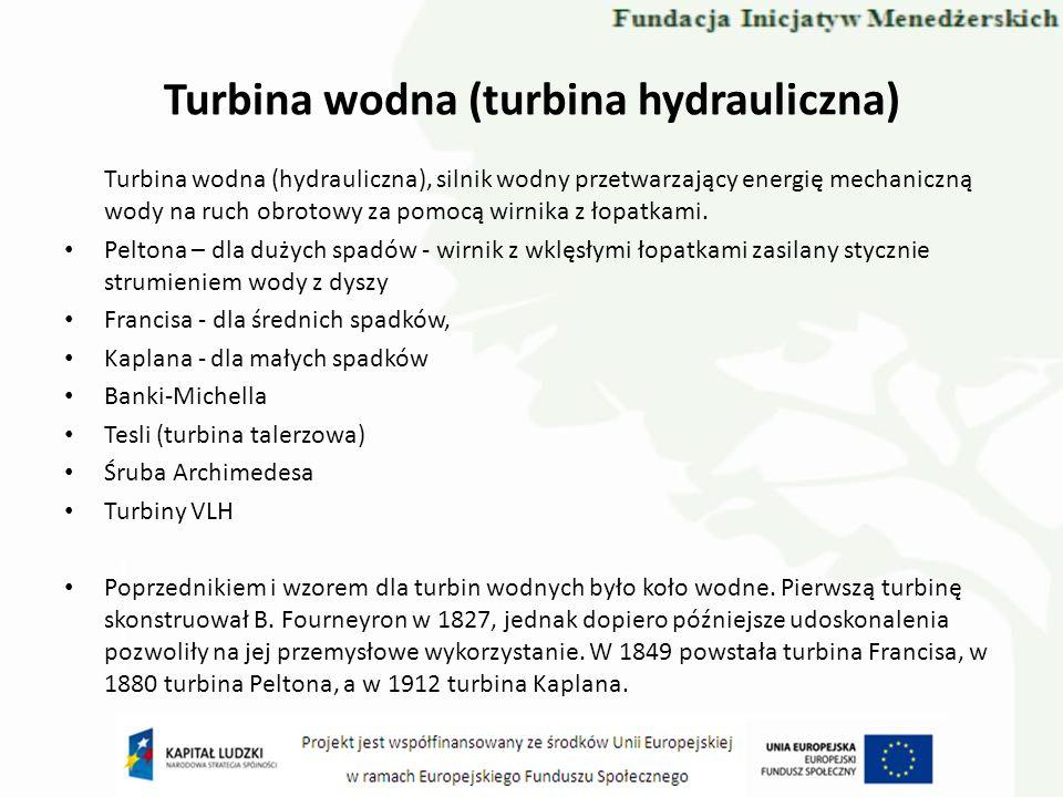 Turbina wodna (turbina hydrauliczna)