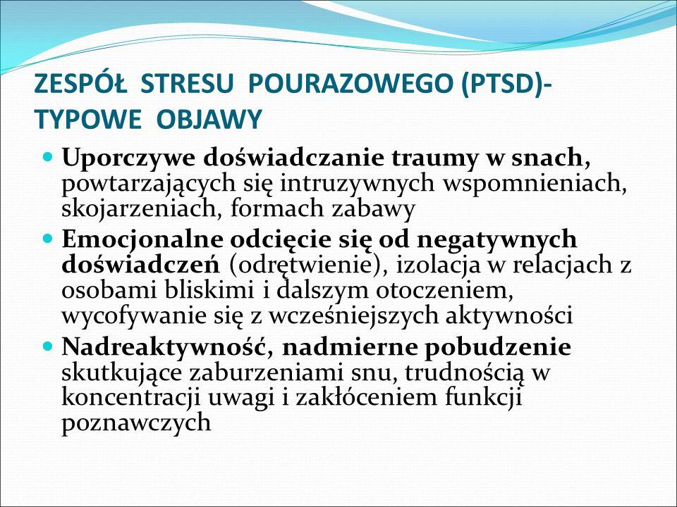ZESPÓŁ STRESU POURAZOWEGO (PTSD)- TYPOWE OBJAWY