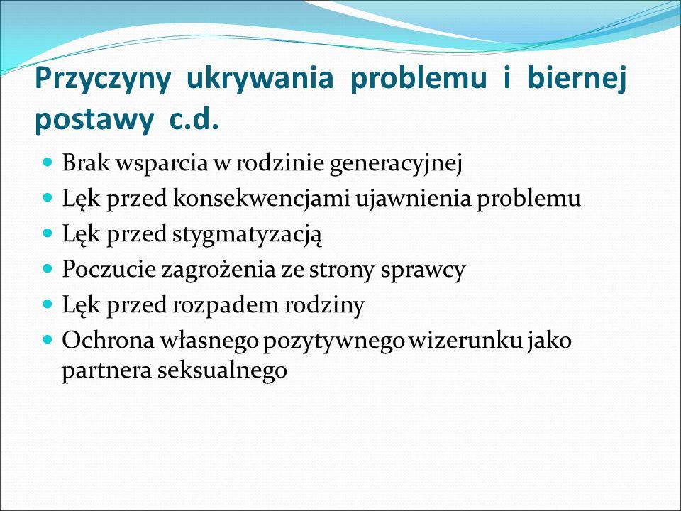 Przyczyny ukrywania problemu i biernej postawy c.d.