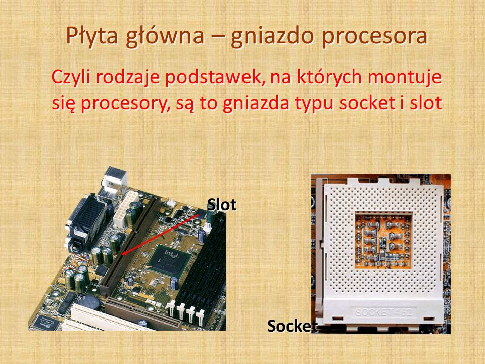 Płyta główna – gniazdo procesora