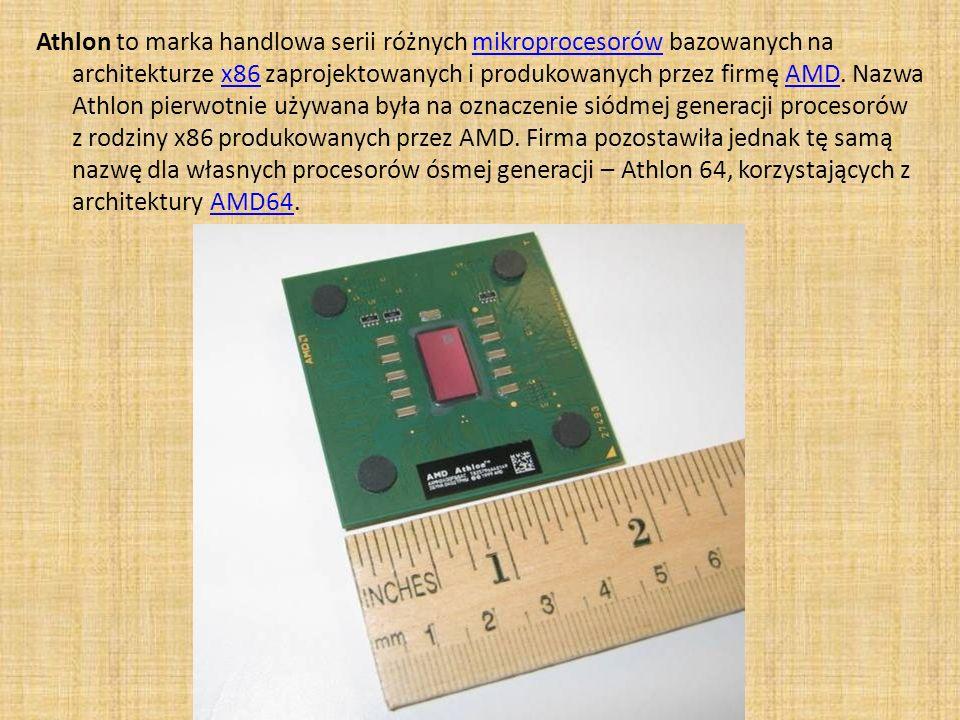 Athlon to marka handlowa serii różnych mikroprocesorów bazowanych na architekturze x86 zaprojektowanych i produkowanych przez firmę AMD.