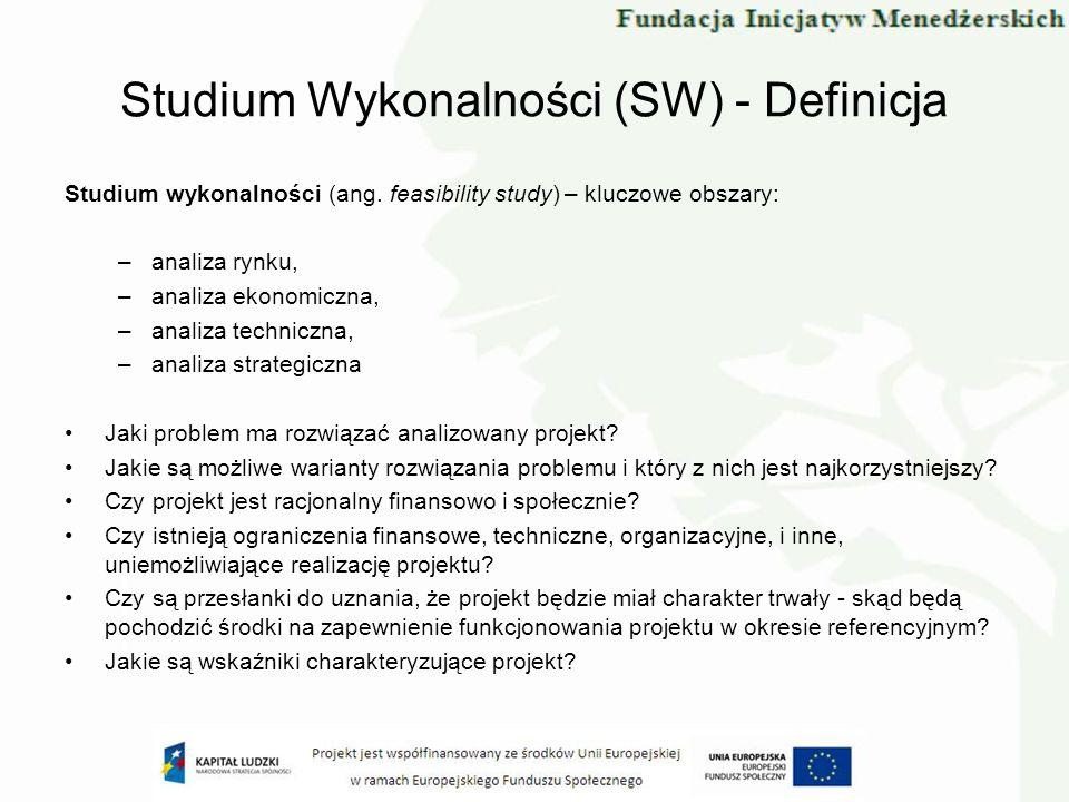 Studium Wykonalności (SW) - Definicja
