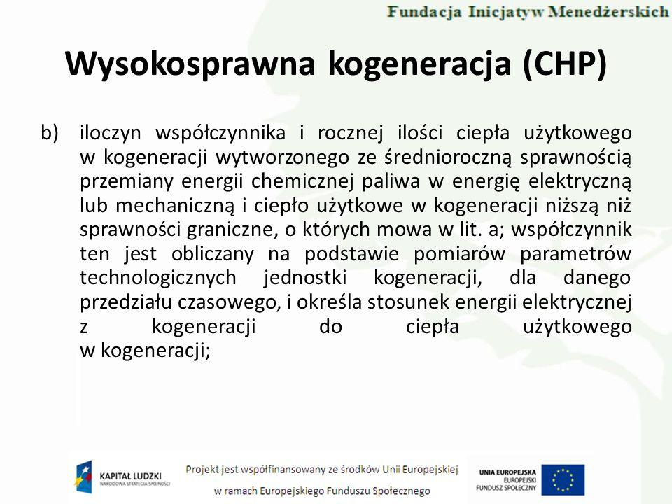 Wysokosprawna kogeneracja (CHP)
