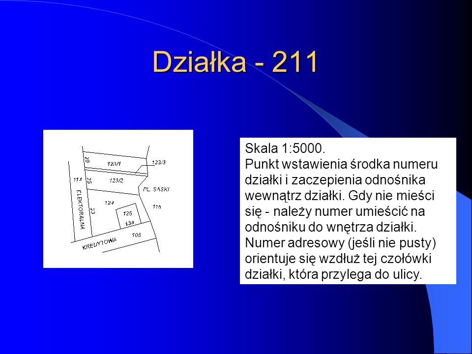 Działka - 211 Skala 1:5000.