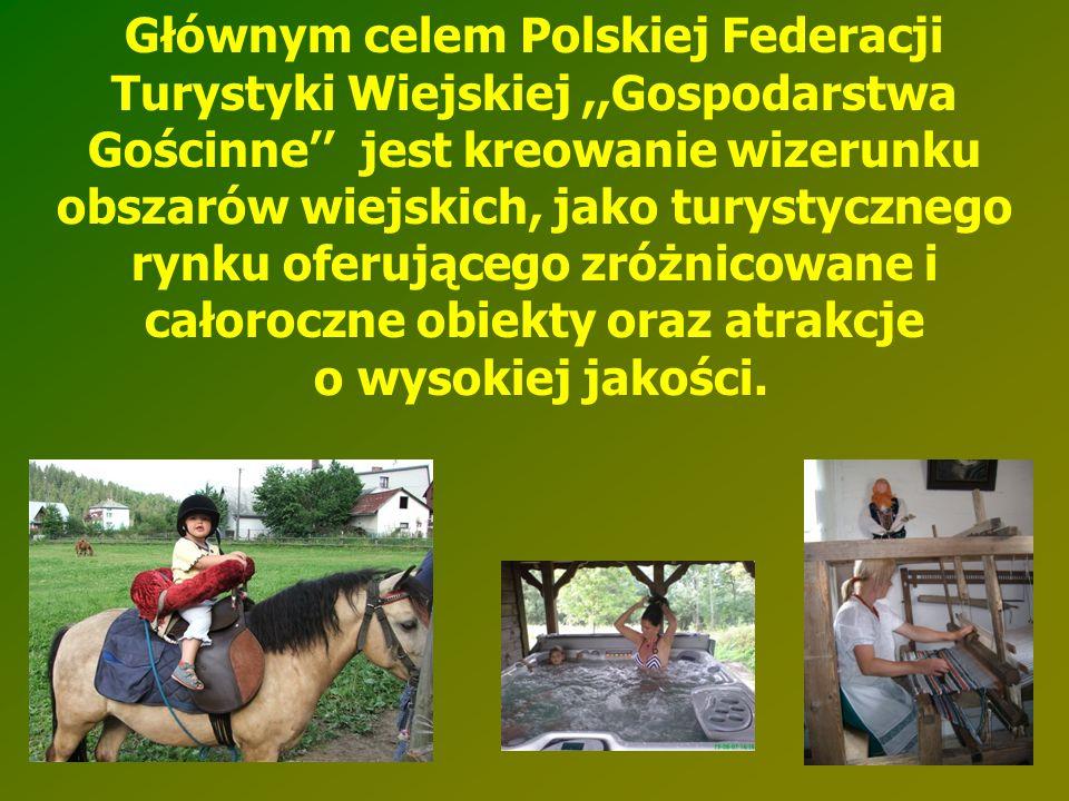 Głównym celem Polskiej Federacji Turystyki Wiejskiej ,,Gospodarstwa Gościnne'' jest kreowanie wizerunku obszarów wiejskich, jako turystycznego rynku oferującego zróżnicowane i całoroczne obiekty oraz atrakcje
