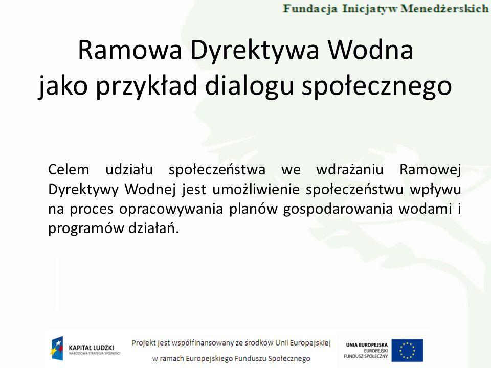 Ramowa Dyrektywa Wodna jako przykład dialogu społecznego