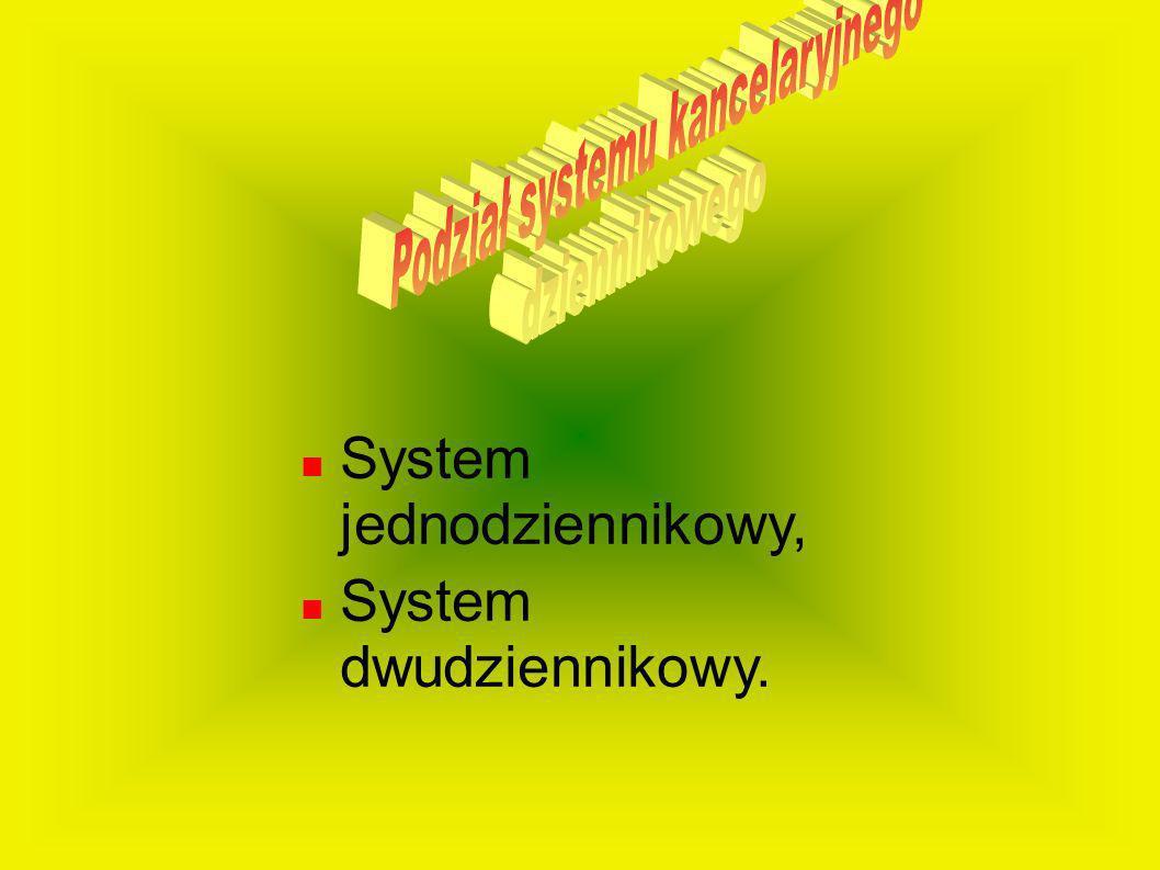 Podział systemu kancelaryjnego
