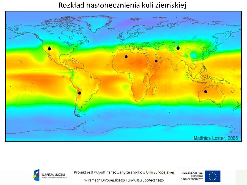 Rozkład nasłonecznienia kuli ziemskiej