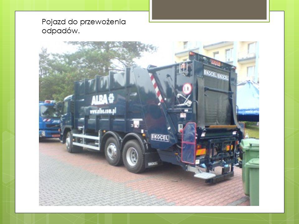 Pojazd do przewożenia odpadów.