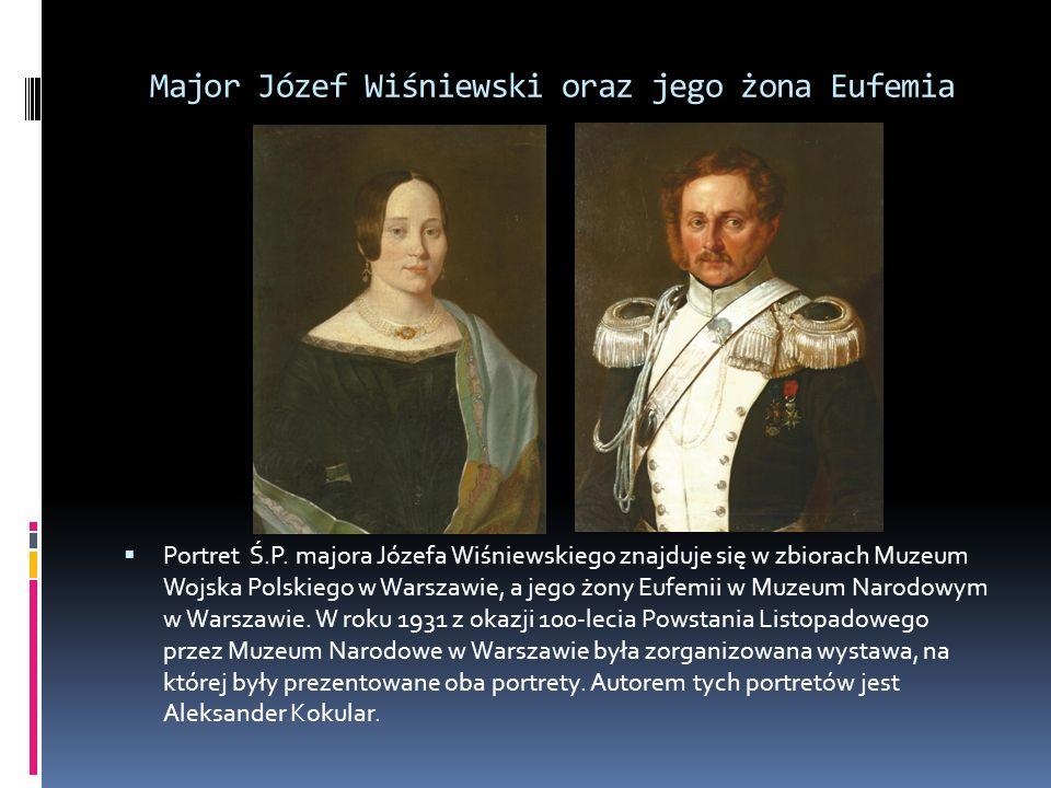 Major Józef Wiśniewski oraz jego żona Eufemia