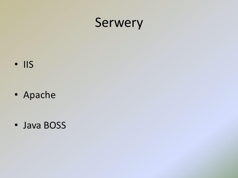 Serwery IIS Apache Java BOSS