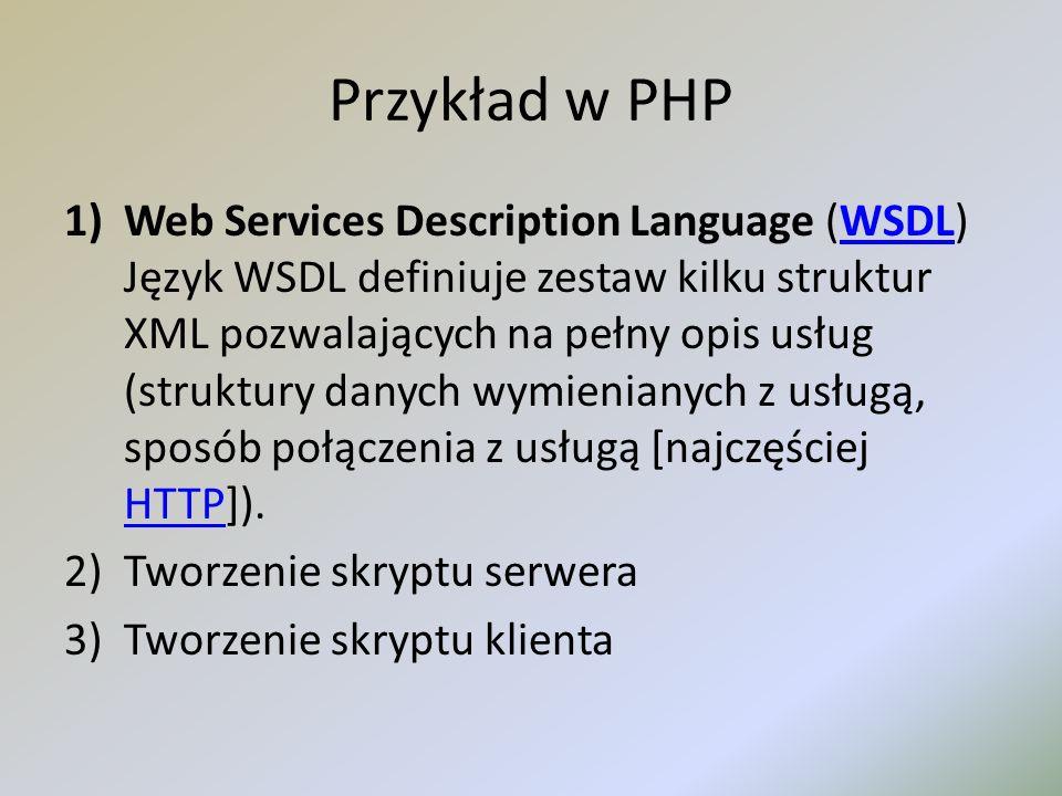 Przykład w PHP