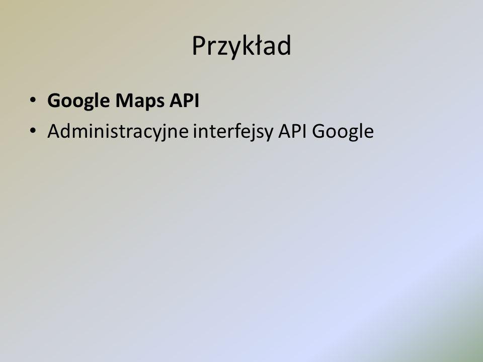 Przykład Google Maps API Administracyjne interfejsy API Google