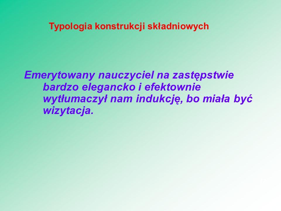 Typologia konstrukcji składniowych