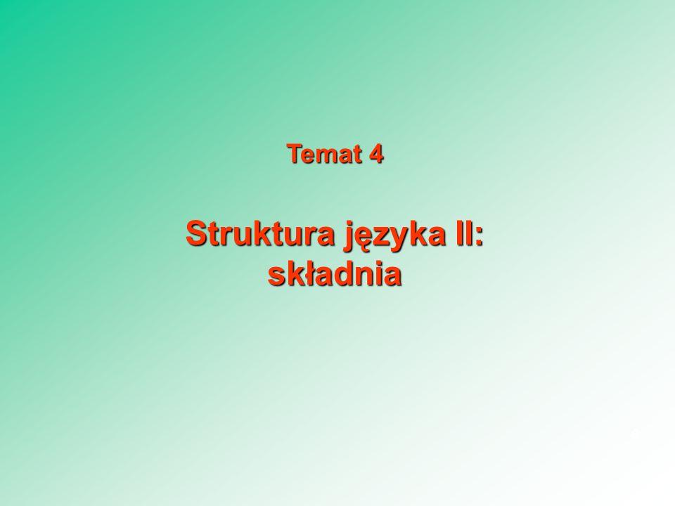 Struktura języka II: składnia